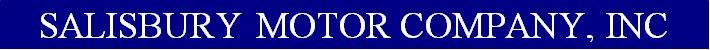 Salisbury Motor Company Inc Logo
